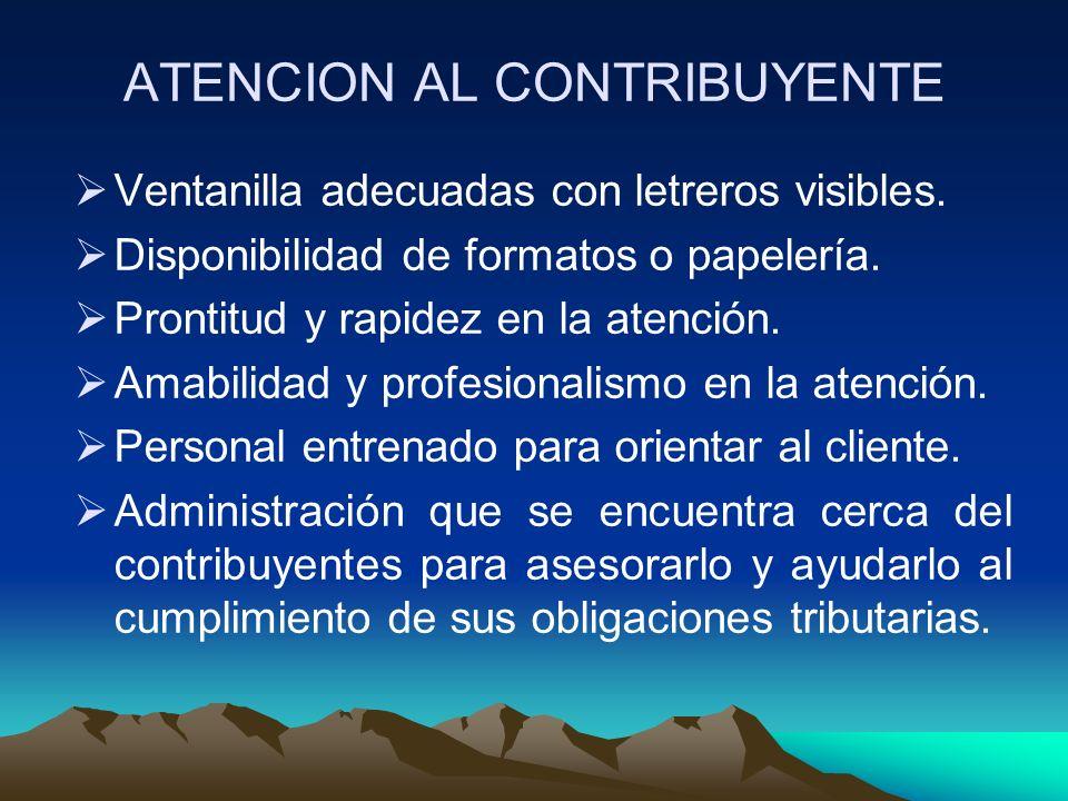 ATENCION AL CONTRIBUYENTE