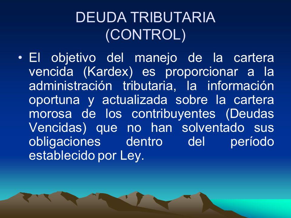 DEUDA TRIBUTARIA (CONTROL)