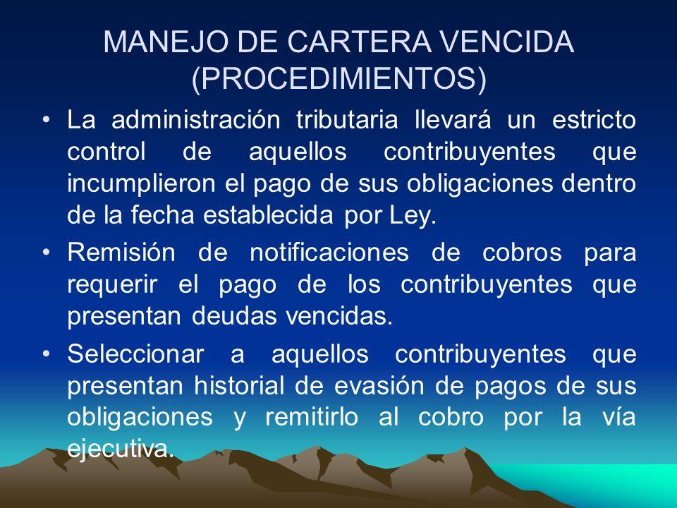 MANEJO DE CARTERA VENCIDA (PROCEDIMIENTOS)