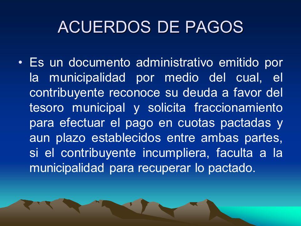 ACUERDOS DE PAGOS