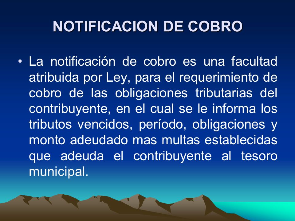 NOTIFICACION DE COBRO