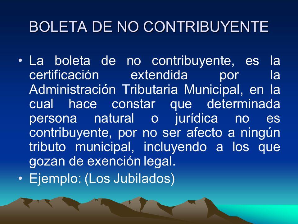 BOLETA DE NO CONTRIBUYENTE