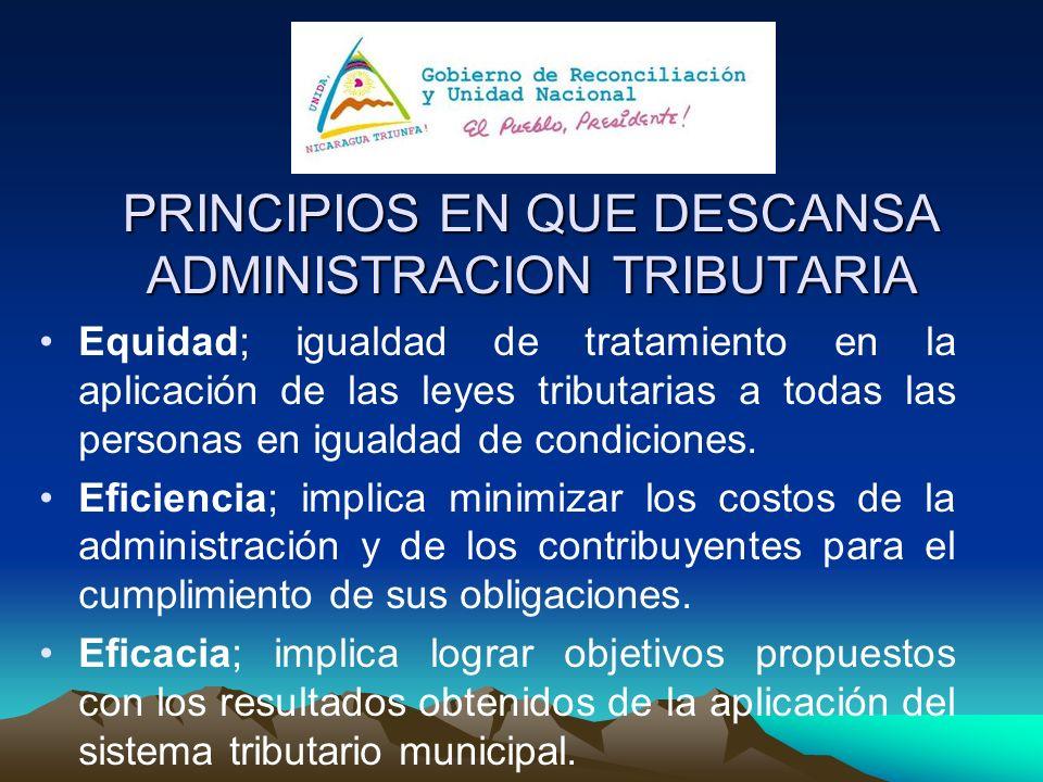 PRINCIPIOS EN QUE DESCANSA ADMINISTRACION TRIBUTARIA