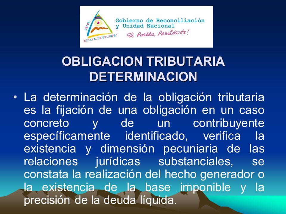 OBLIGACION TRIBUTARIA DETERMINACION