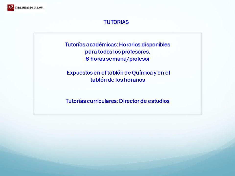 Tutorías académicas: Horarios disponibles para todos los profesores.