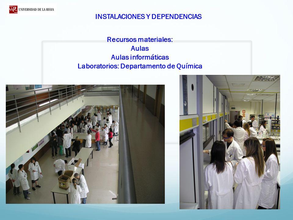 Laboratorios: Departamento de Química