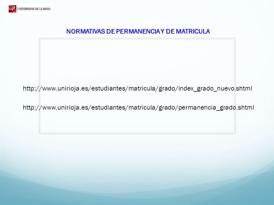 NORMATIVAS DE PERMANENCIA Y DE MATRICULA