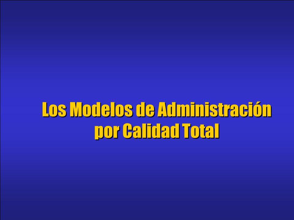 Los Modelos de Administración por Calidad Total