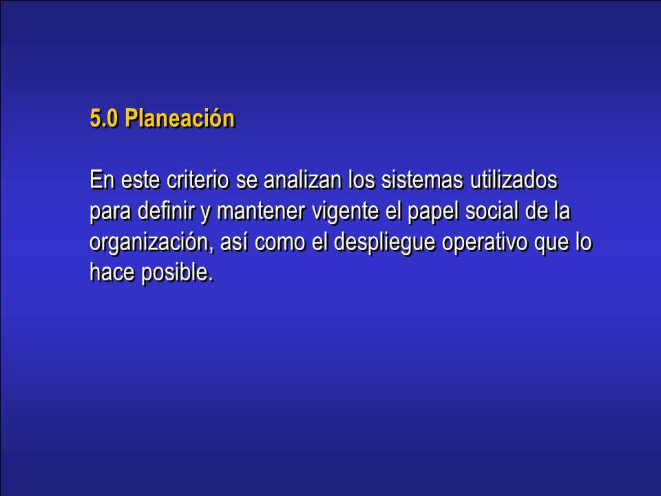 5.0 Planeación