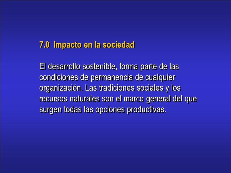 7.0 Impacto en la sociedad