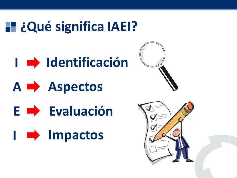¿Qué significa IAEI I Identificación A Aspectos E Evaluación I Impactos