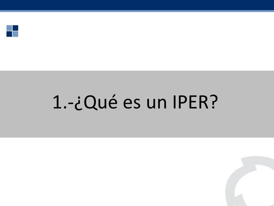 1.-¿Qué es un IPER