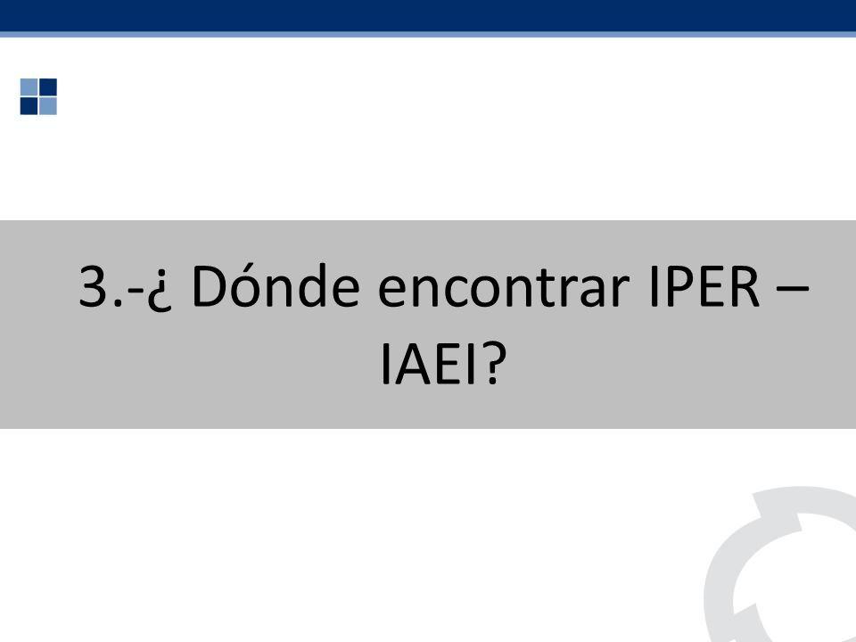 3.-¿ Dónde encontrar IPER – IAEI