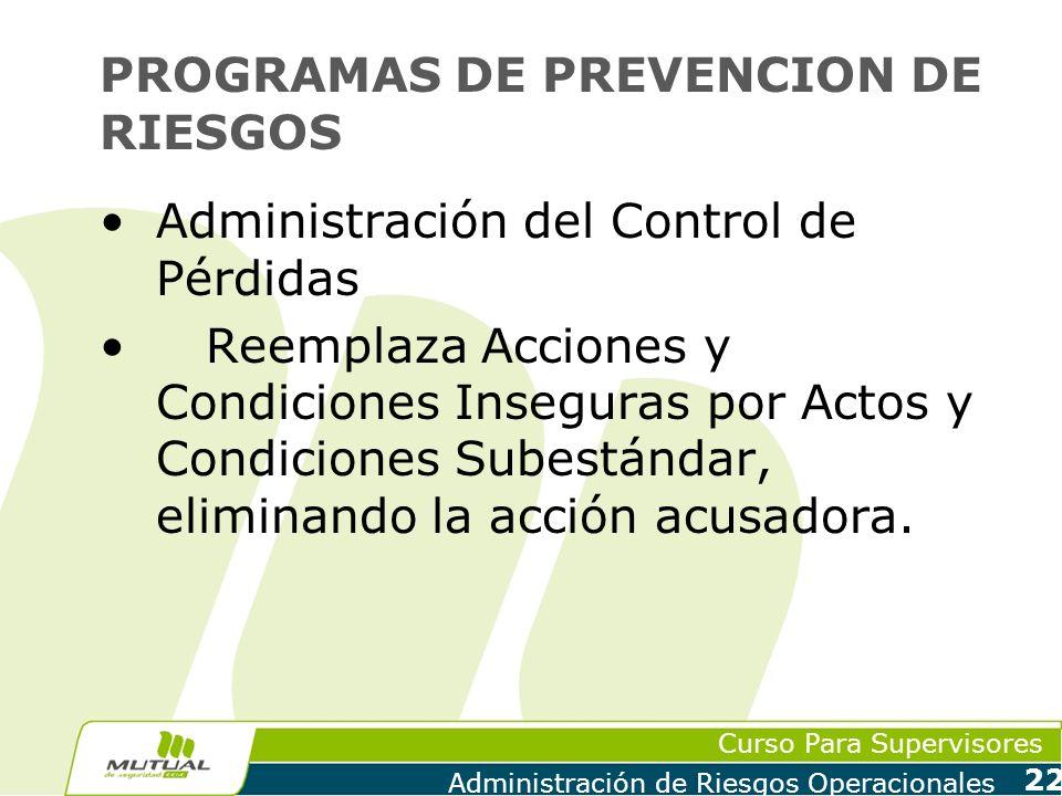 PROGRAMAS DE PREVENCION DE RIESGOS