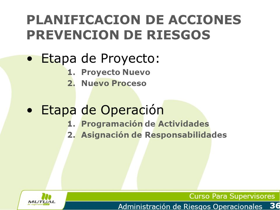 PLANIFICACION DE ACCIONES PREVENCION DE RIESGOS