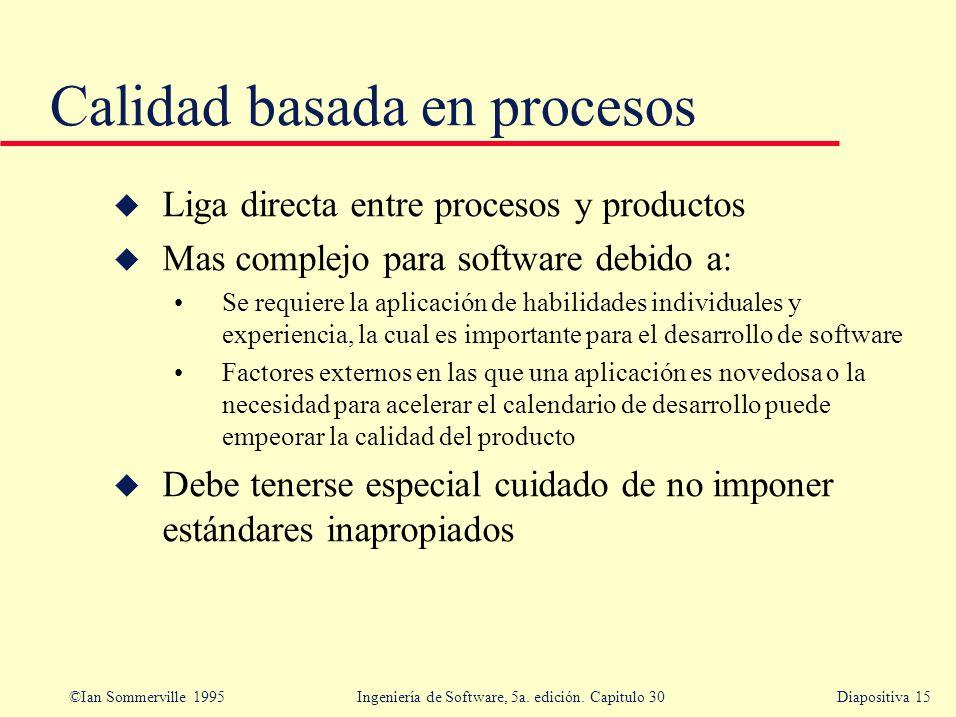 Calidad basada en procesos