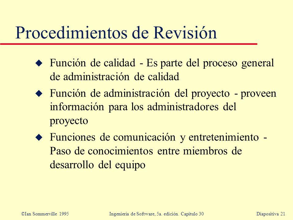 Procedimientos de Revisión