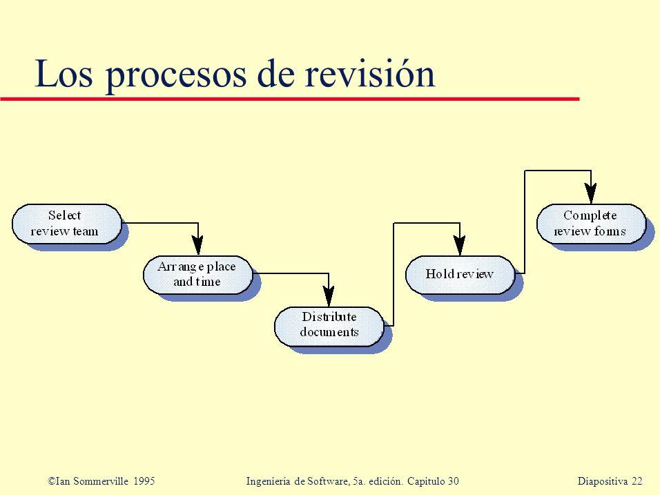 Los procesos de revisión