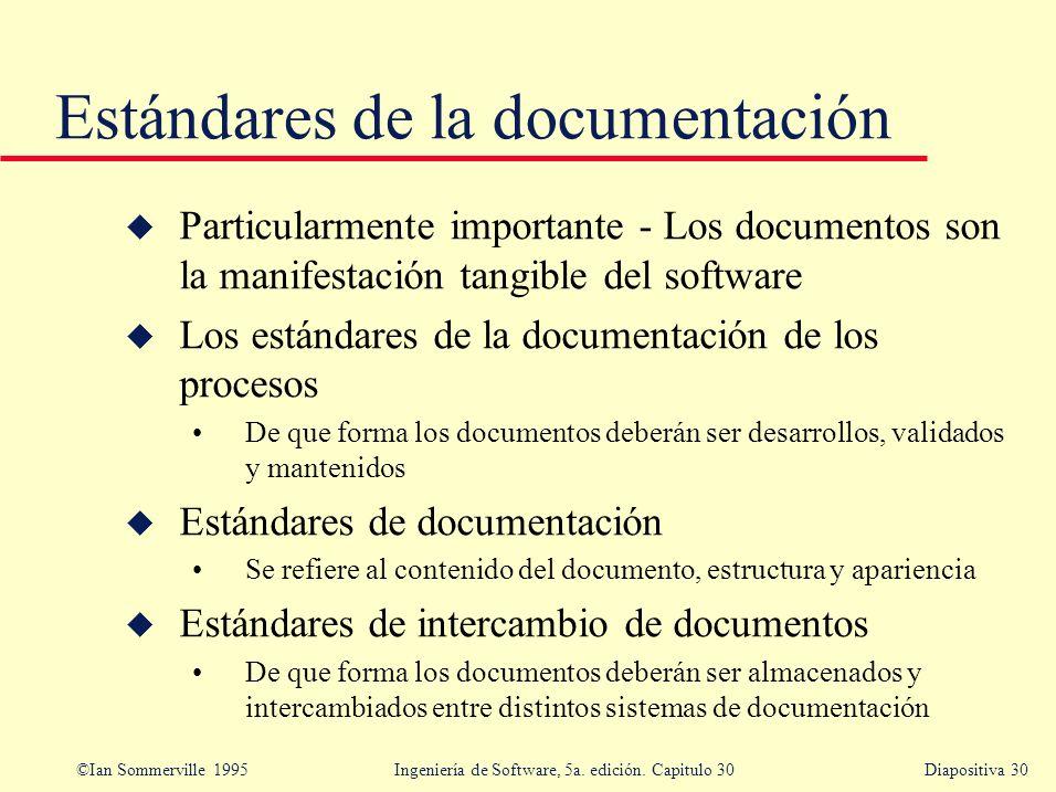 Estándares de la documentación