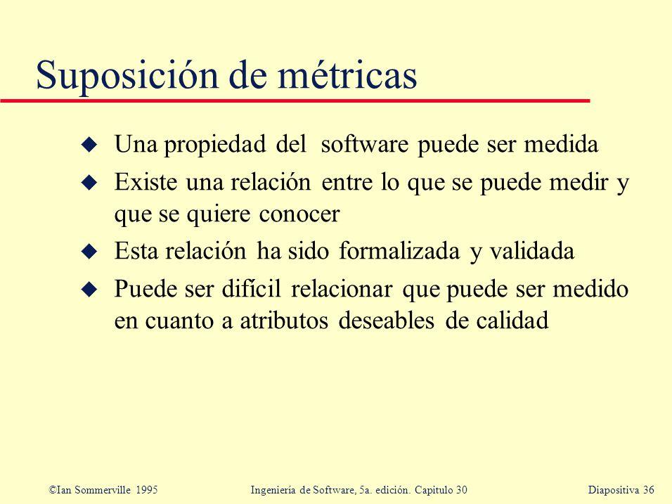 Suposición de métricas