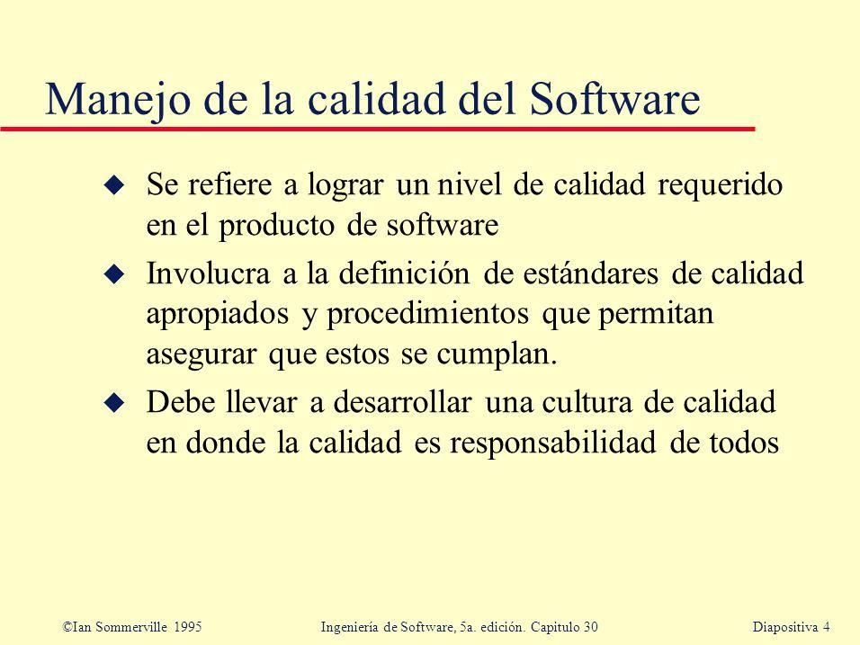 Manejo de la calidad del Software