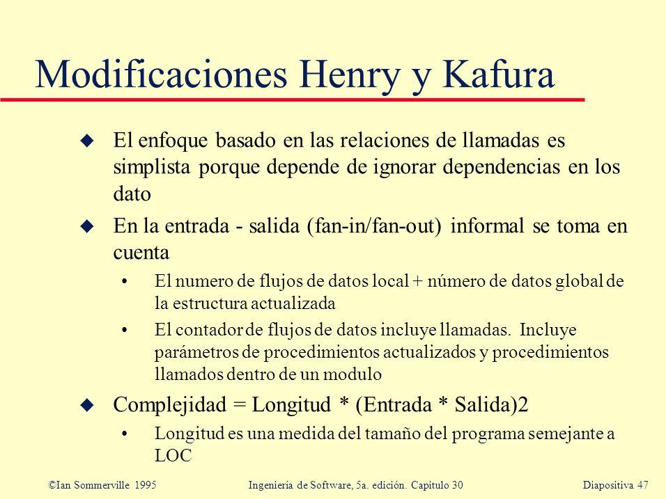 Modificaciones Henry y Kafura