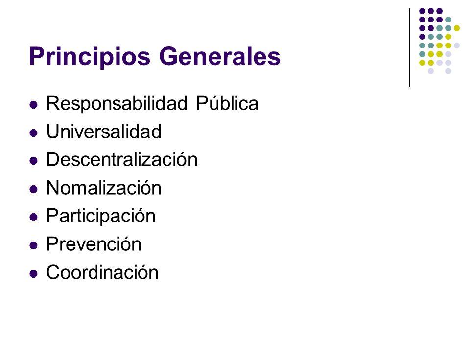 Principios Generales Responsabilidad Pública Universalidad