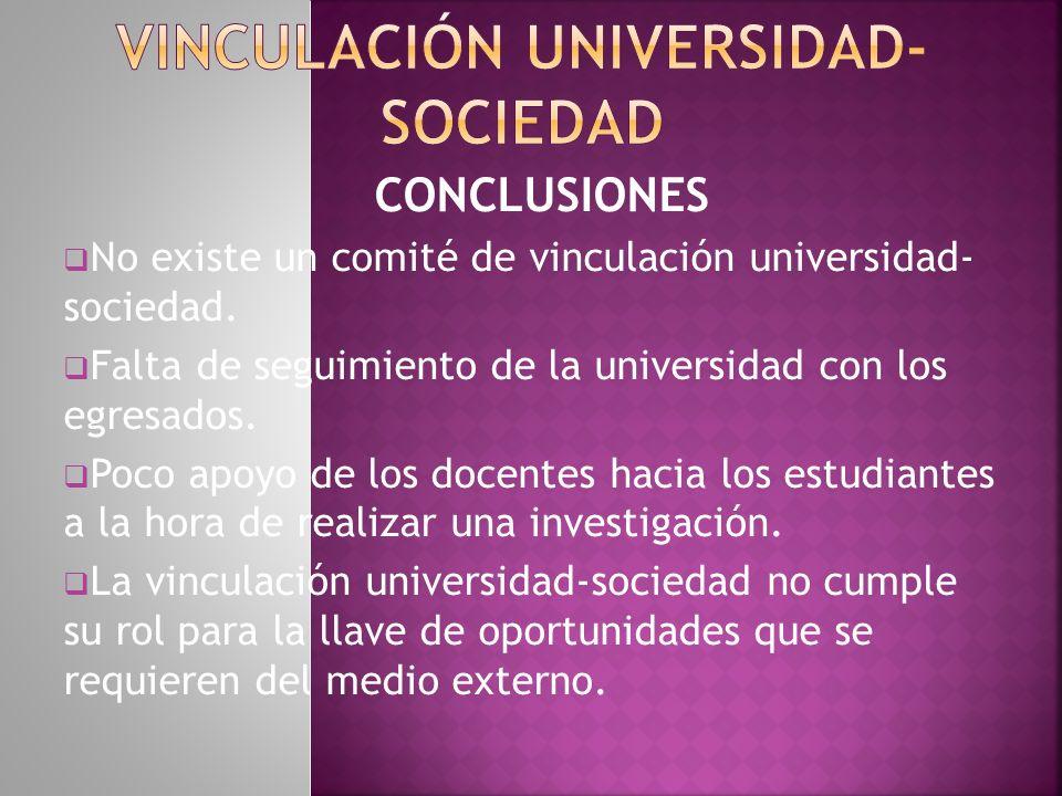 Vinculación universidad-sociedad