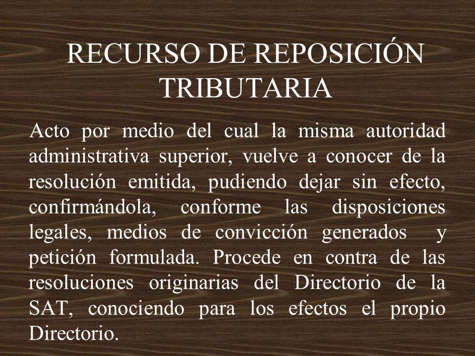 RECURSO DE REPOSICIÓN TRIBUTARIA