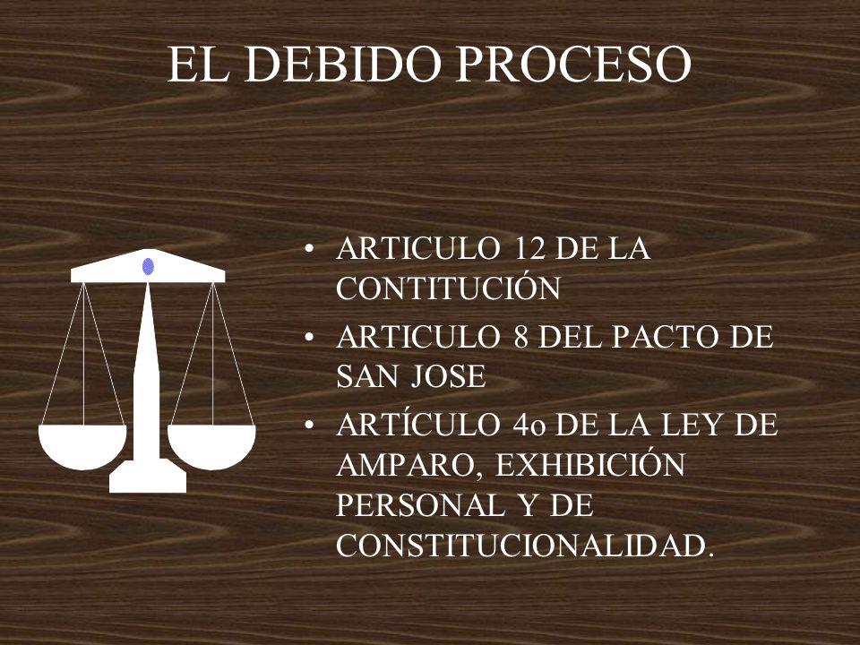 EL DEBIDO PROCESO ARTICULO 12 DE LA CONTITUCIÓN