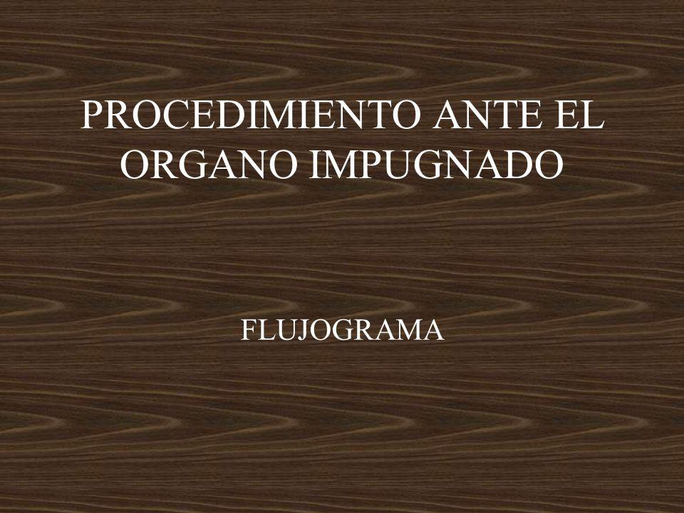 PROCEDIMIENTO ANTE EL ORGANO IMPUGNADO