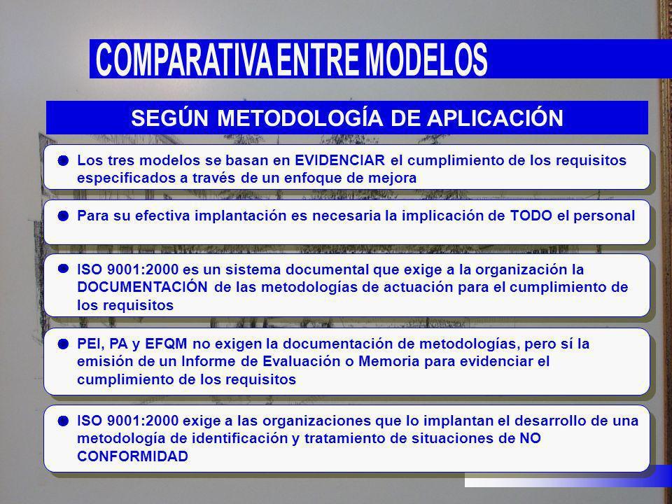 SEGÚN METODOLOGÍA DE APLICACIÓN