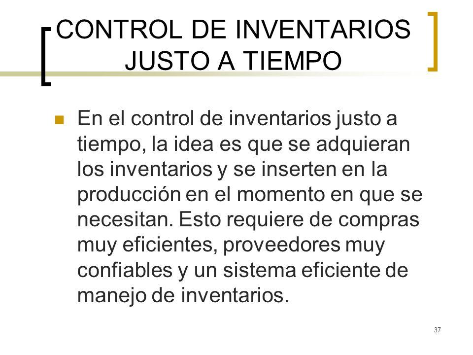 CONTROL DE INVENTARIOS JUSTO A TIEMPO