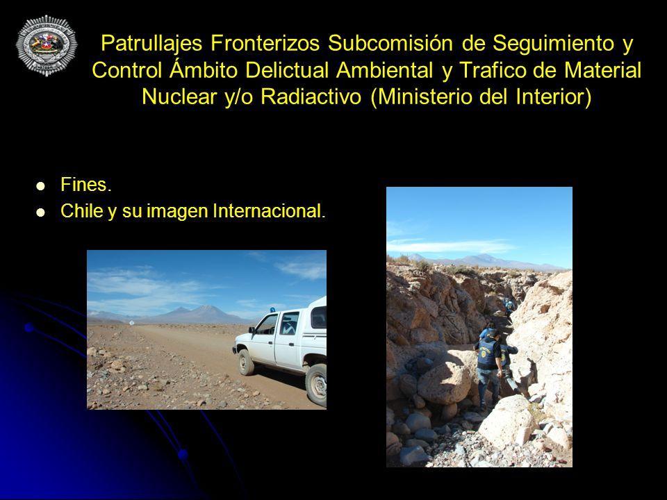Patrullajes Fronterizos Subcomisión de Seguimiento y Control Ámbito Delictual Ambiental y Trafico de Material Nuclear y/o Radiactivo (Ministerio del Interior)
