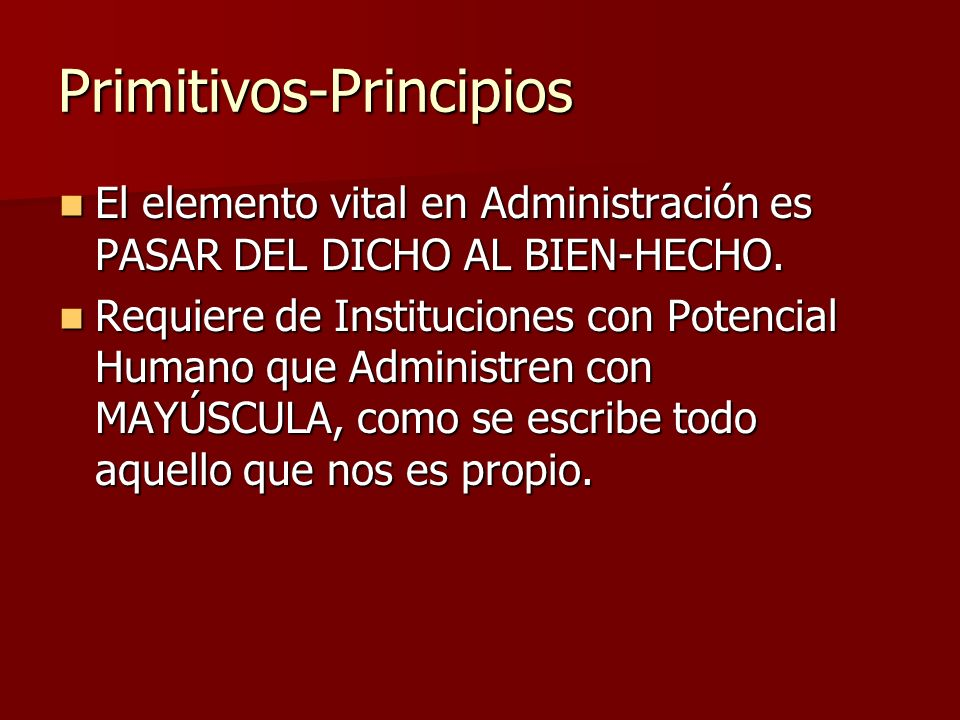 Primitivos-Principios