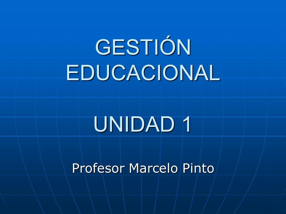 GESTIÓN EDUCACIONAL UNIDAD 1