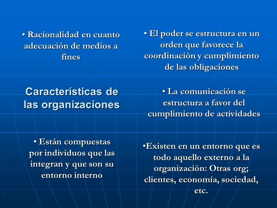 Características de las organizaciones