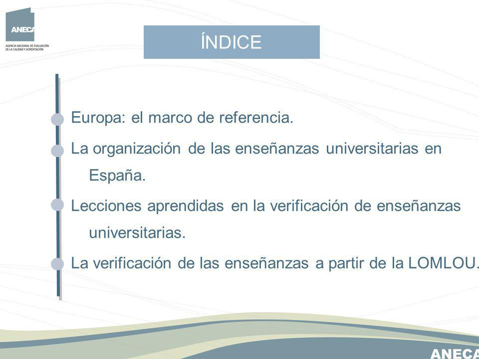 ÍNDICE Europa: el marco de referencia.