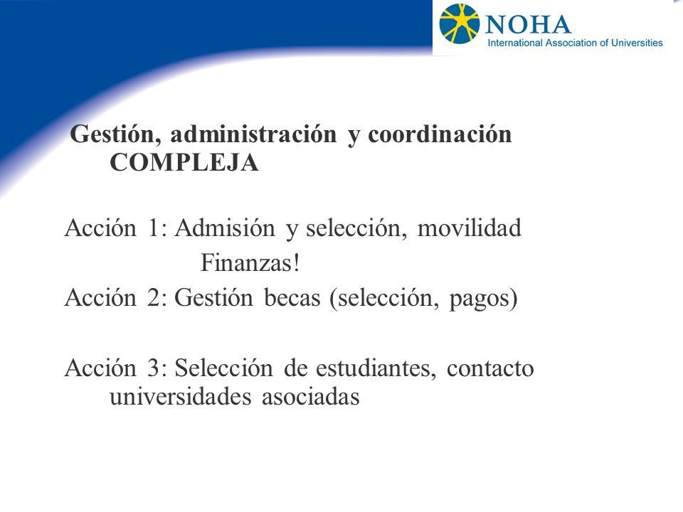 Acción 1: Admisión y selección, movilidad Finanzas!