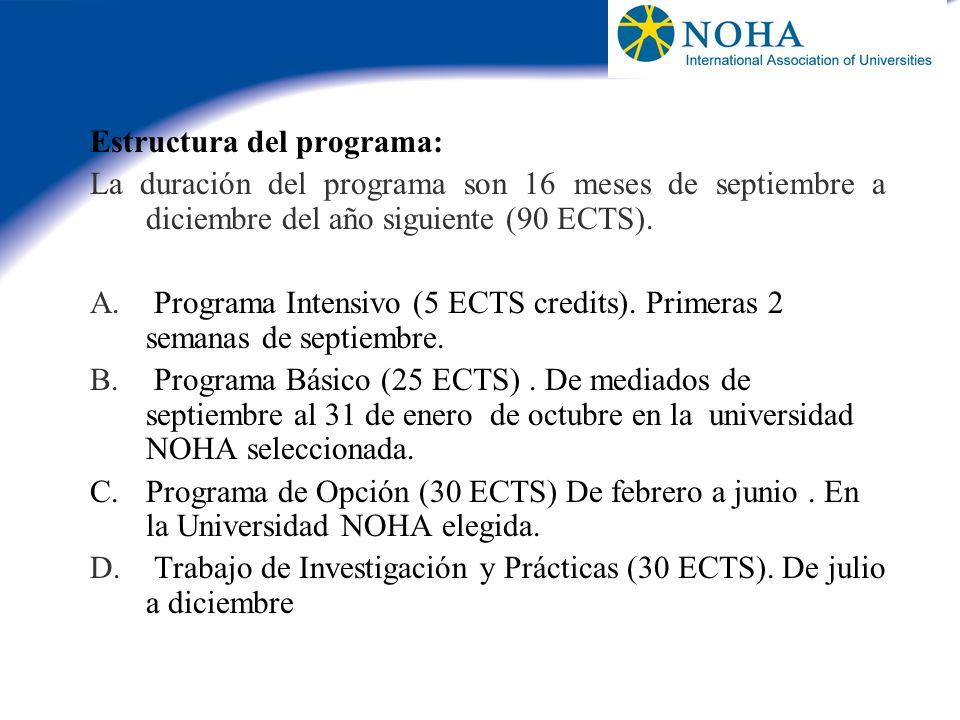 Estructura del programa: