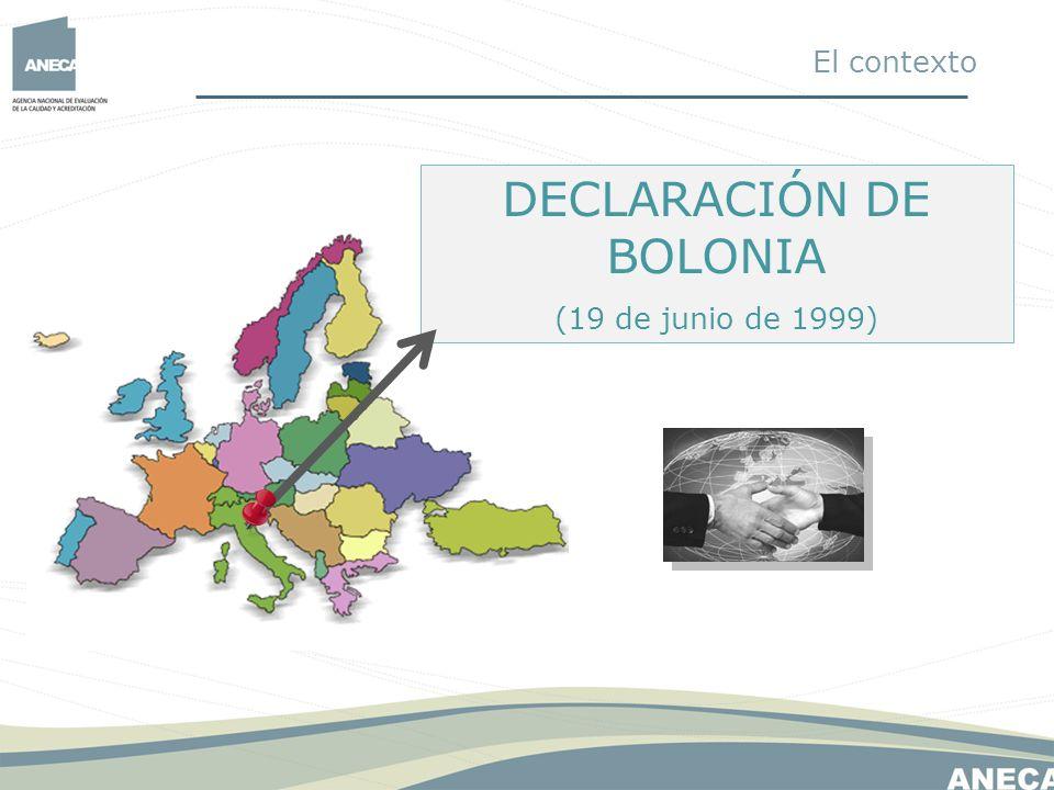 DECLARACIÓN DE BOLONIA