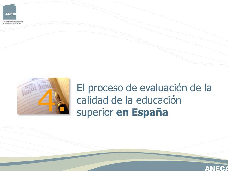 El proceso de evaluación de la calidad de la educación superior en España