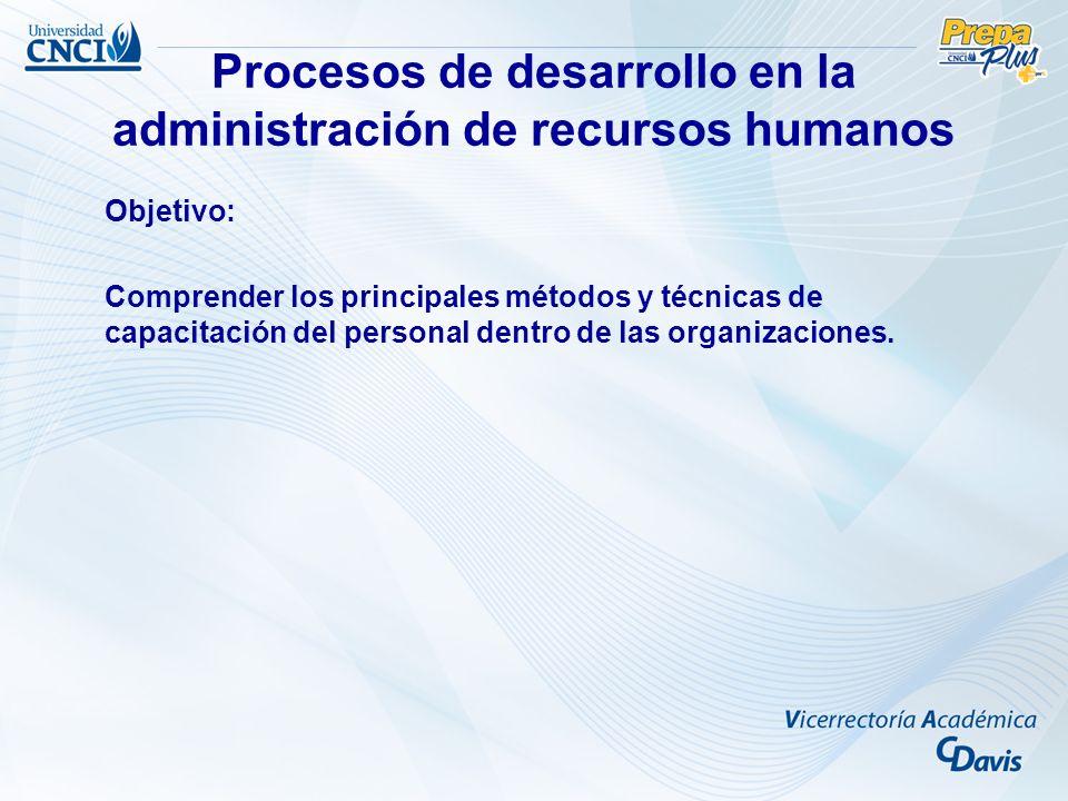 Procesos de desarrollo en la administración de recursos humanos
