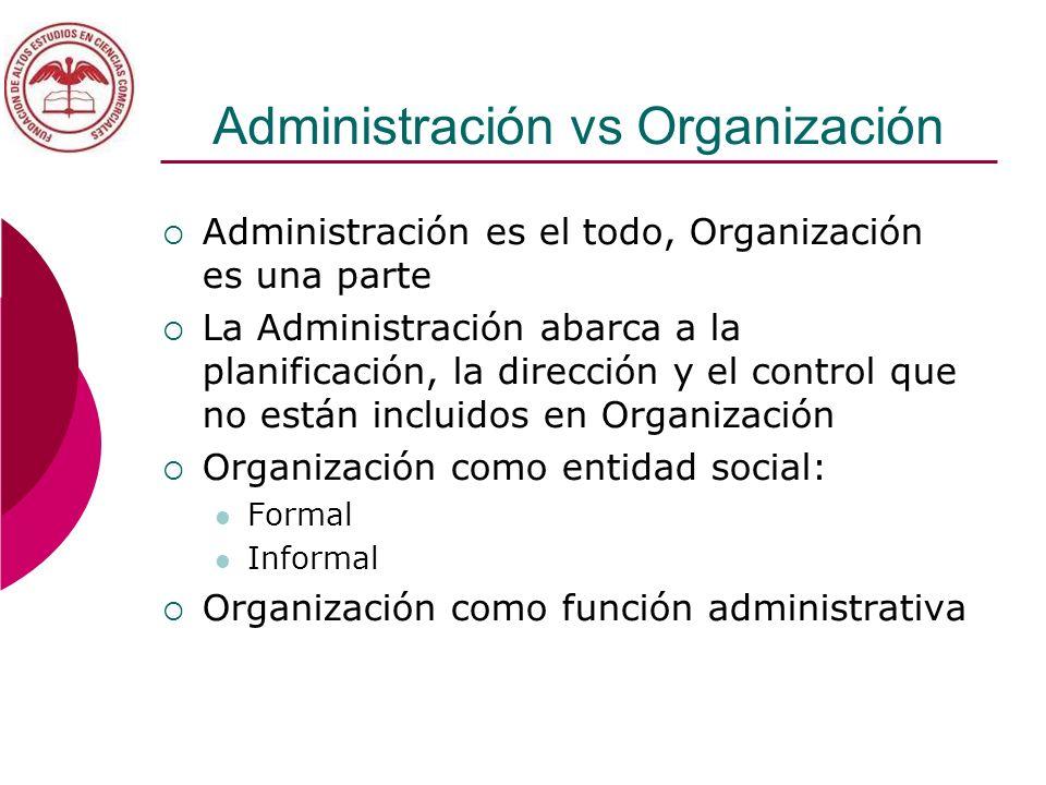 Administración vs Organización