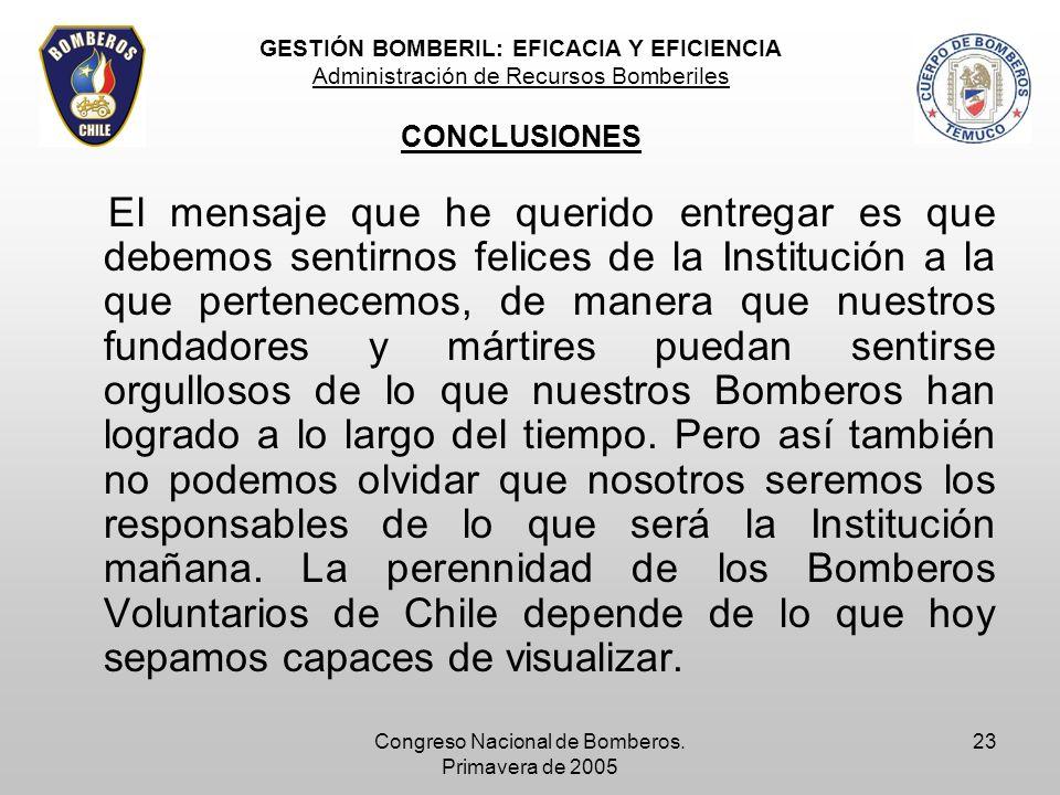 Congreso Nacional de Bomberos. Primavera de 2005