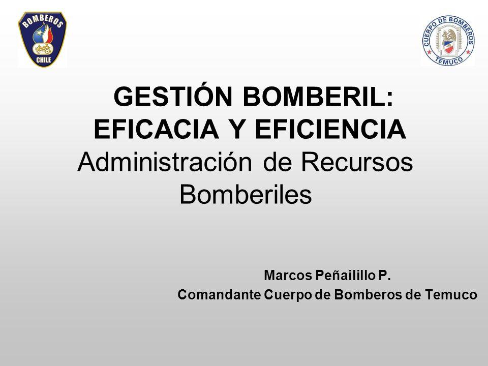 Marcos Peñailillo P. Comandante Cuerpo de Bomberos de Temuco