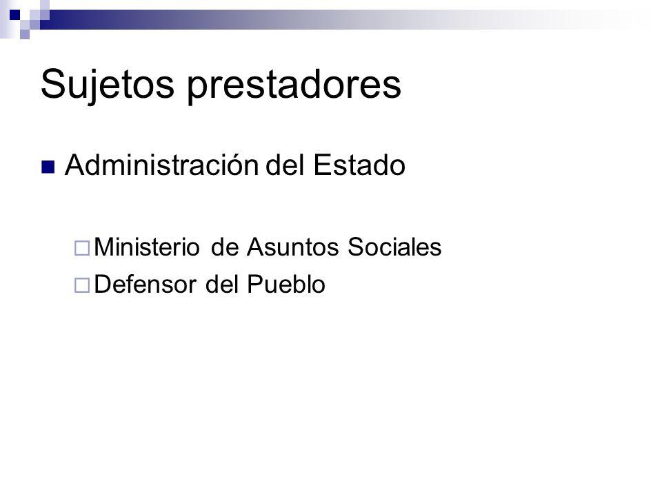 Sujetos prestadores Administración del Estado
