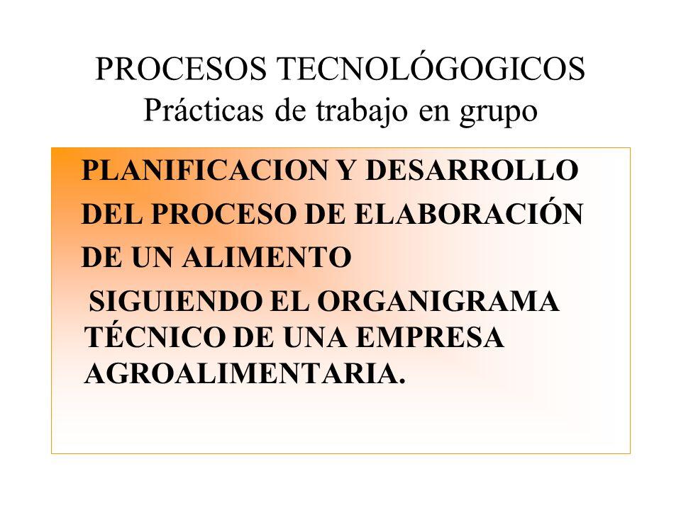 PROCESOS TECNOLÓGOGICOS Prácticas de trabajo en grupo