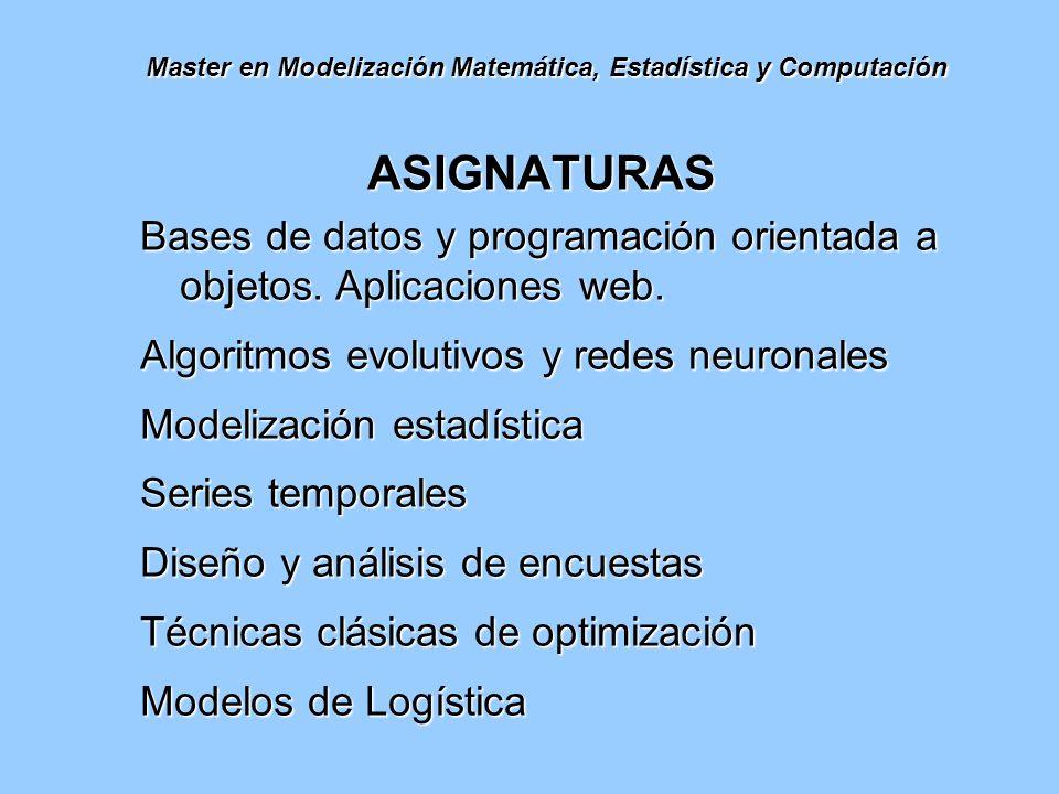 Master en Modelización Matemática, Estadística y Computación