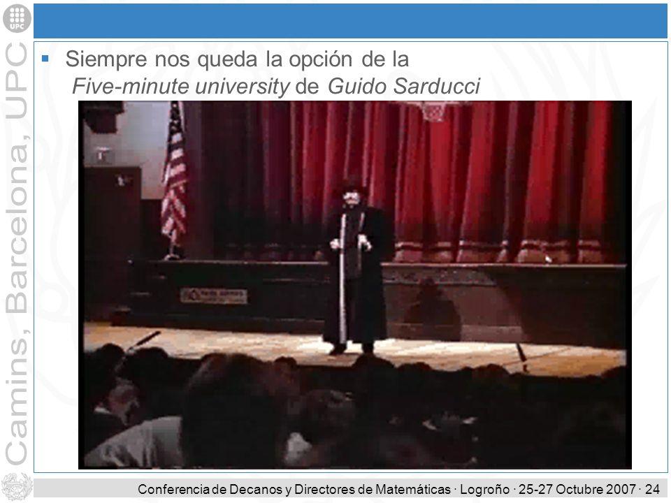 Siempre nos queda la opción de la Five-minute university de Guido Sarducci